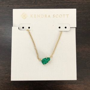 Kendra Scott Green Drusy Helga Necklace